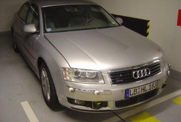 Audi A8 D3 mulet intégrant des ADAS