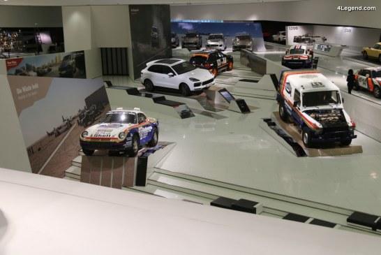 """Exposition """"Neue Wege. Jedes Ziel. Immer Porsche."""" au Porsche Museum célébrant le Porsche Cayenne et ses ancêtres"""