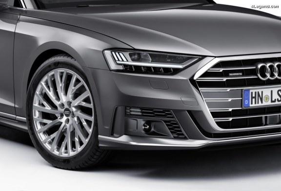 Pack sport extérieur et sièges sport afin de rendre l'Audi A8 encore plus dynamique
