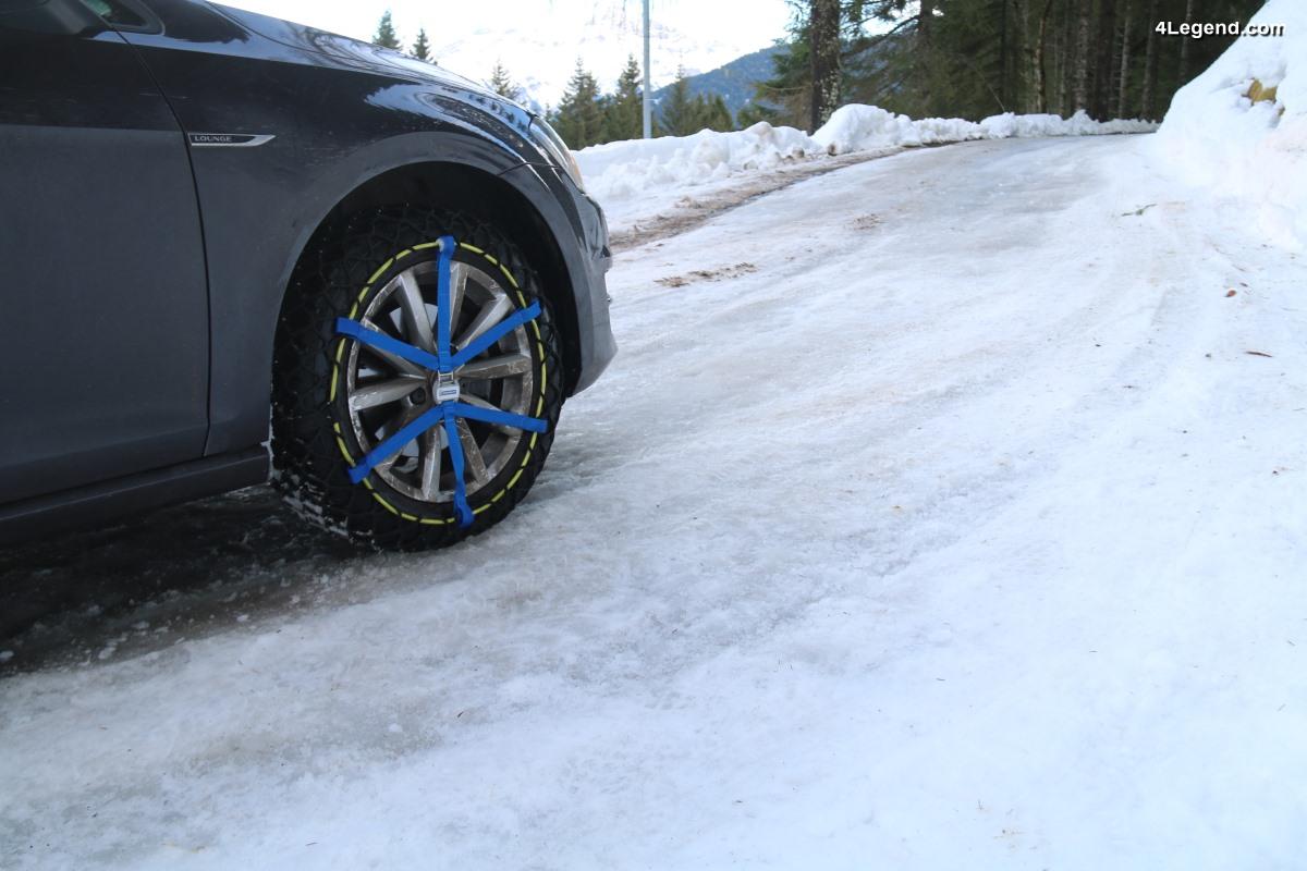 Essais des chaînes à neige Michelin Easy Grip Evolution - Un grip exceptionnel