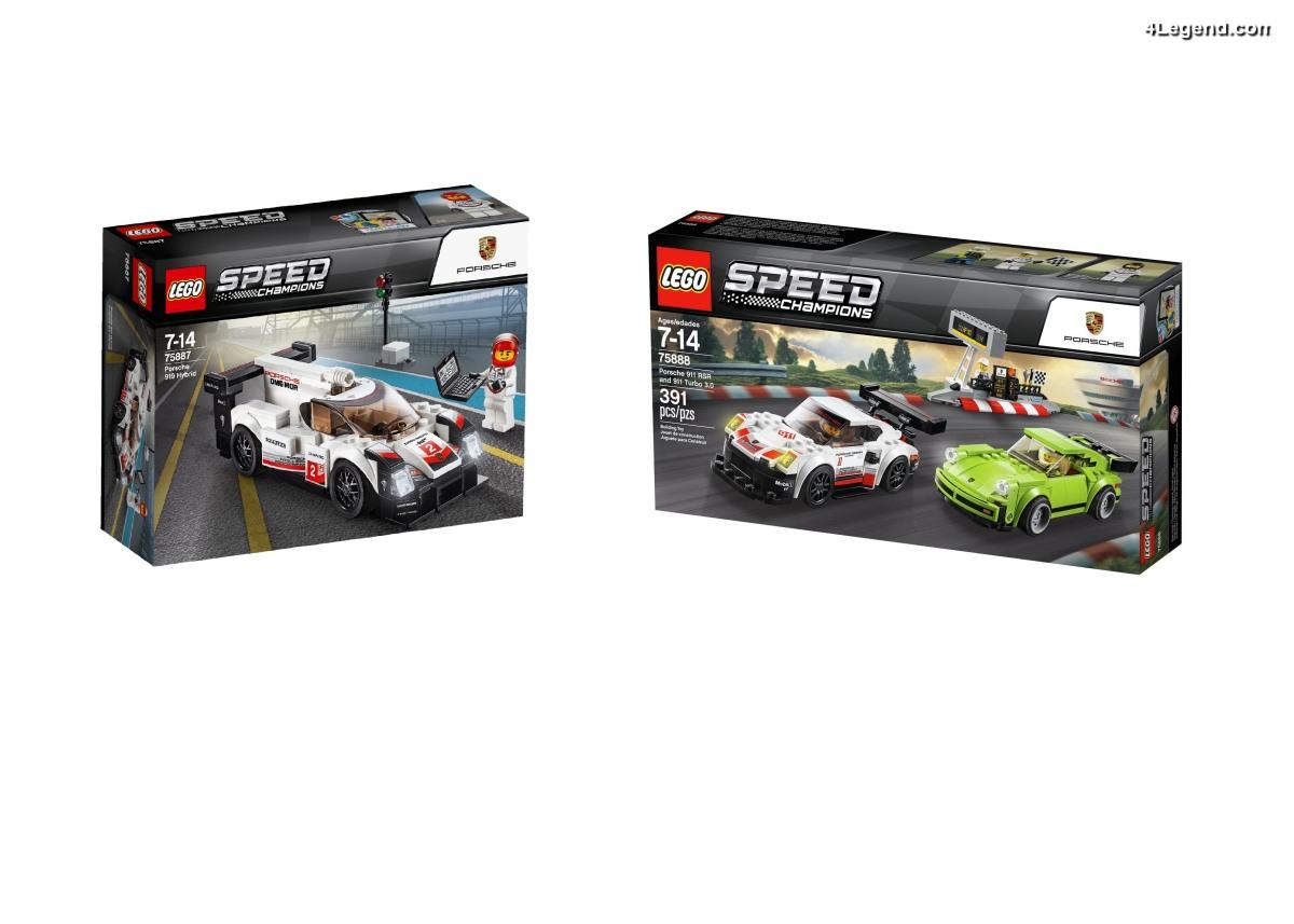 Nouveaux sets Porsche en LEGO Speed Champions : 911 RSR, 911 Turbo 3.0 & 919 Hybrid