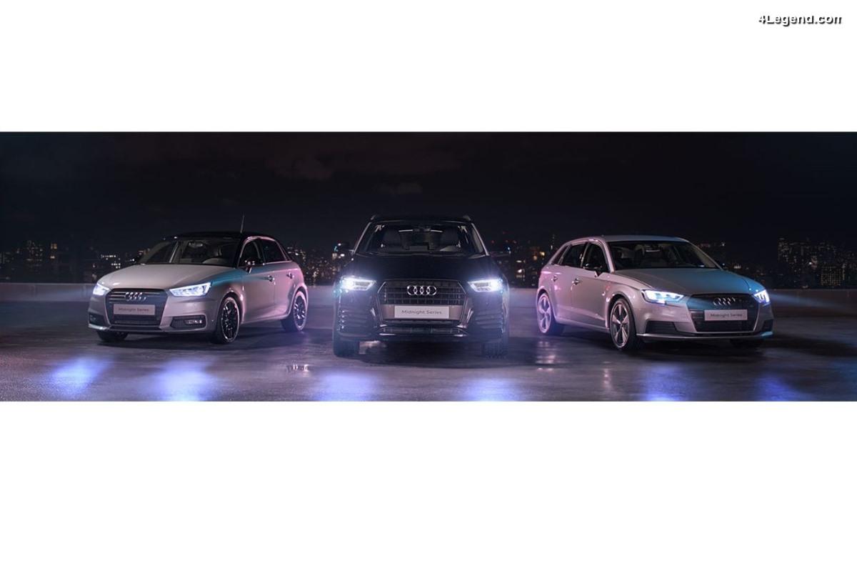 Audi Midnight Series - Une nouvelle série spéciale française pour les Audi A1, A3 et Q3