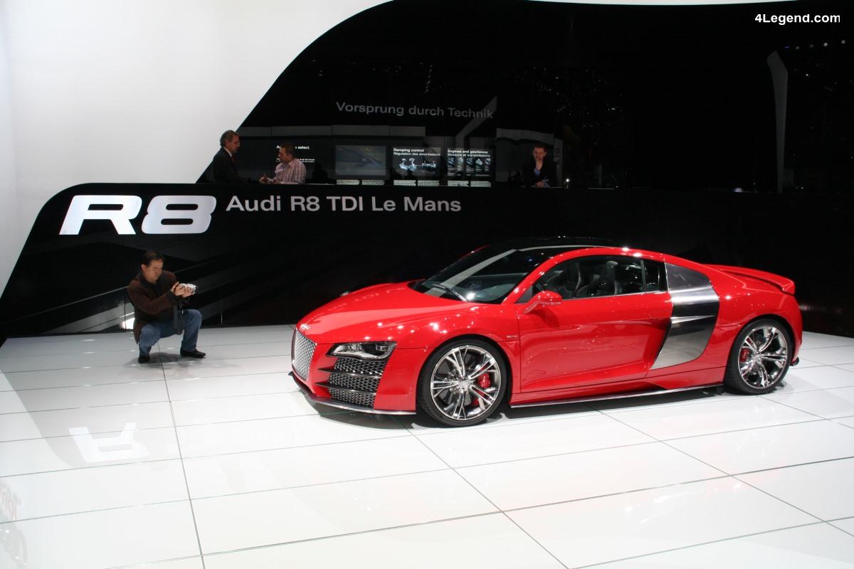 Audi R8 TDI Le Mans Concept de 2008 - V12 TDI de 500 ch et 1000 Nm de couple