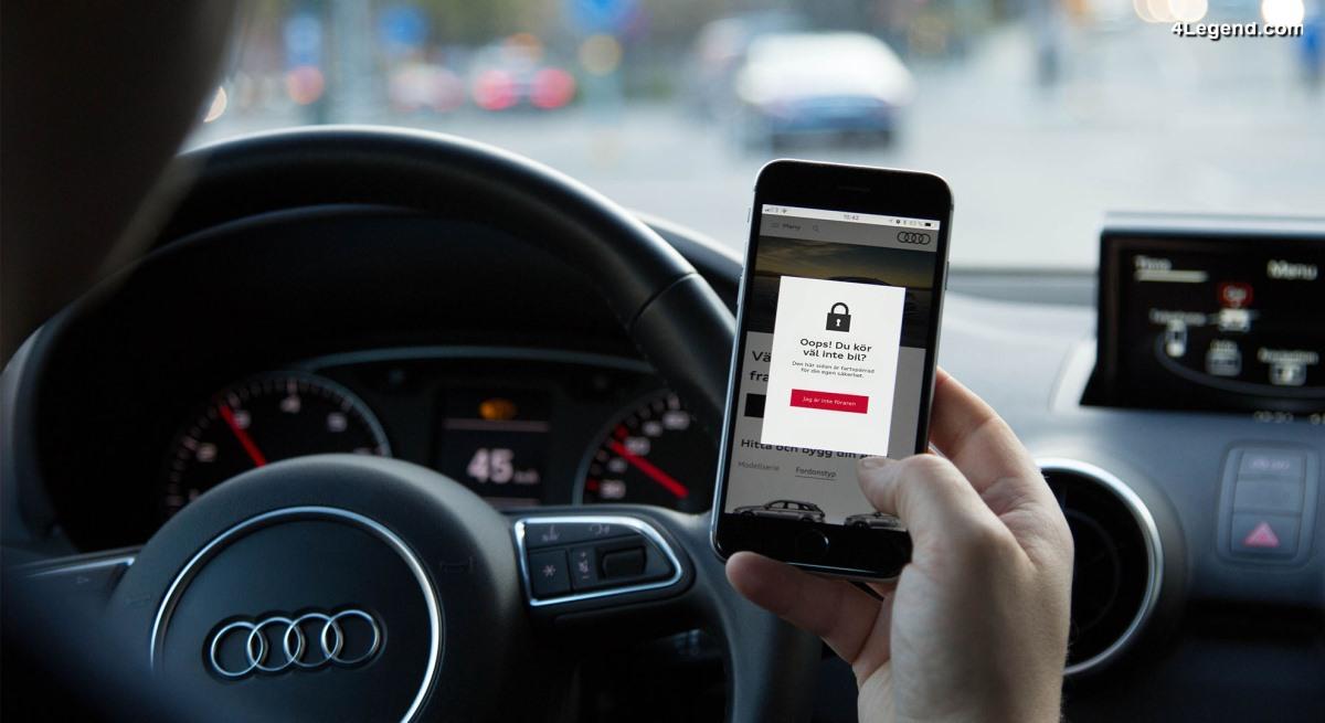 Audi Suède utilise un script pour ses sites web afin de bloquer ses visiteurs qui conduisent