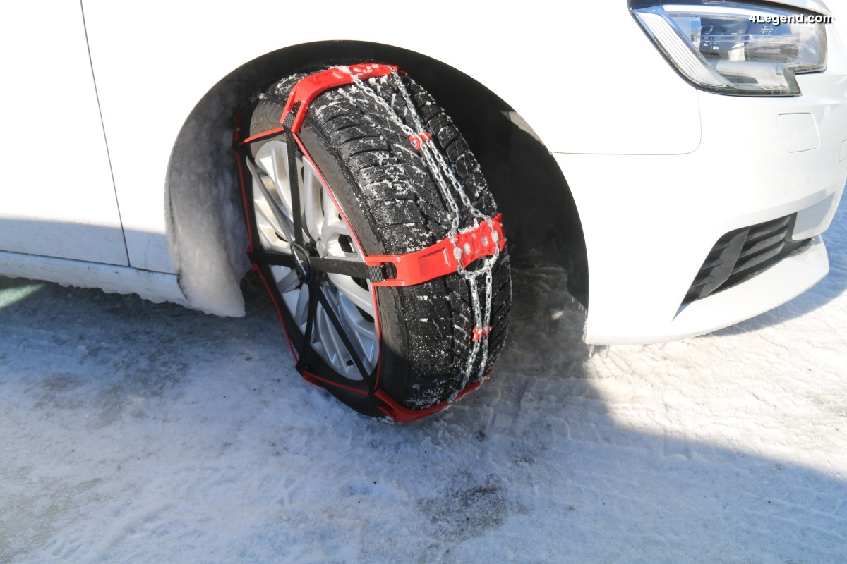 Essai des nouvelles chaînes à neige hybrides Polaire Steel Sock - PSS