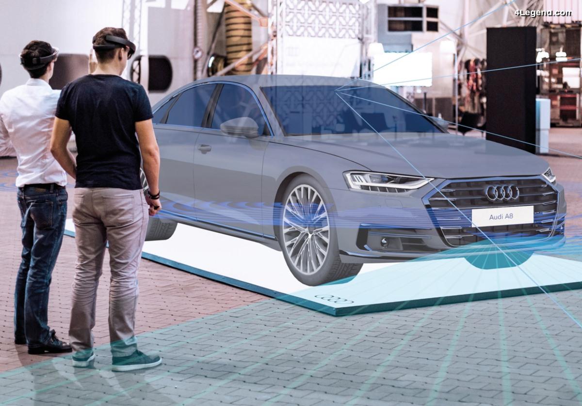 La réalité mixte au Forum Audi Ingolstadt - Une exposition virtuelle montrant la technologie de la nouvelle Audi A8