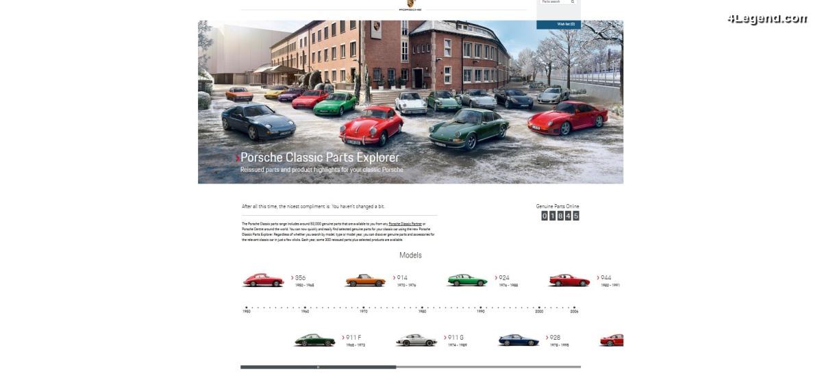 Porsche Classic Parts Explorer - Un outil en ligne pour trouver les pièces détachées d'origine pour sa Porsche