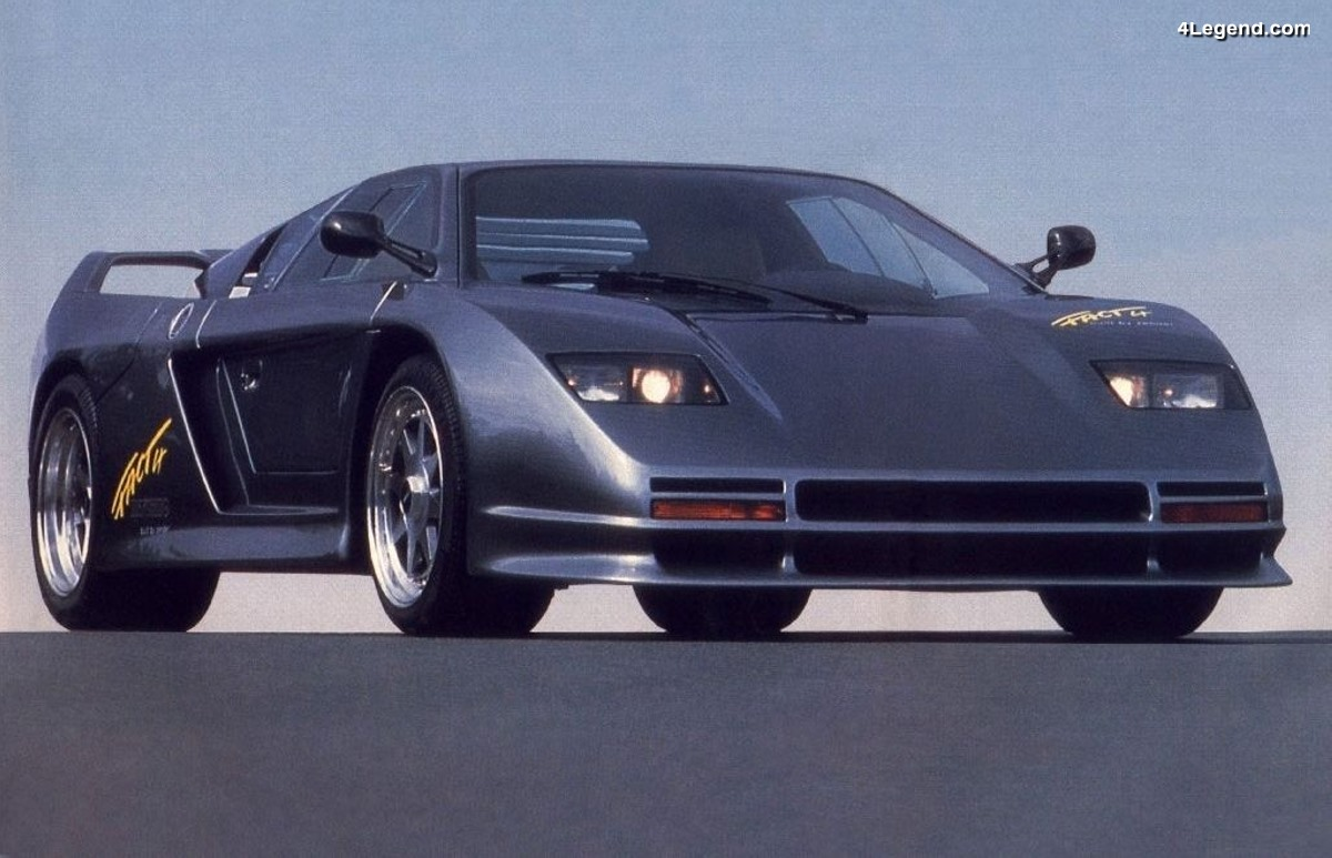 Zender Fact 4 Biturbo de 1989 - Un concept de supercar à moteur Audi V8 Biturbo de 448 ch