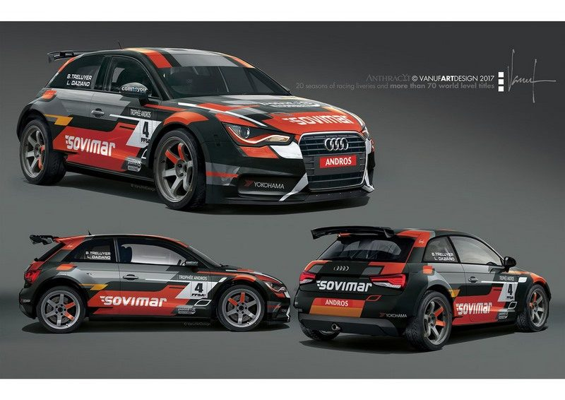 deux audi a1 quattro comtoyou racing engag es au troph e andros 2017 2018. Black Bedroom Furniture Sets. Home Design Ideas