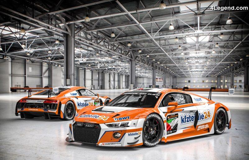 13 voitures de course de l'audi sport customer racing engagées aux