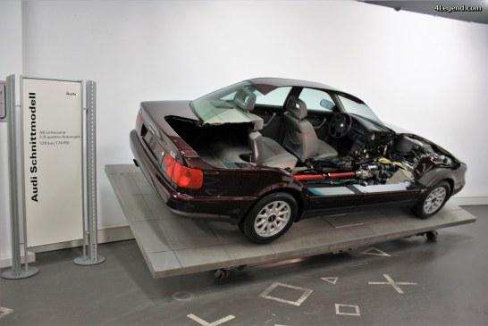 Audi A6 Schnittmodell ou modèle en coupe.