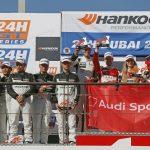 Doublé de deux Audi R8 LMS GT4 aux 24 Heures de Dubaï 2018