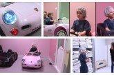 Des Porsche & Audi électriques transportant les enfants au bloc opératoire au CHU de Valenciennes
