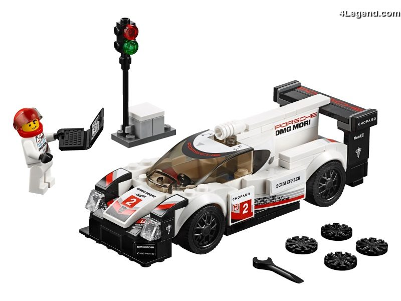 nouveaux sets porsche en lego speed champions 911 rsr 911 turbo 3 0 919 hybrid 4legend. Black Bedroom Furniture Sets. Home Design Ideas