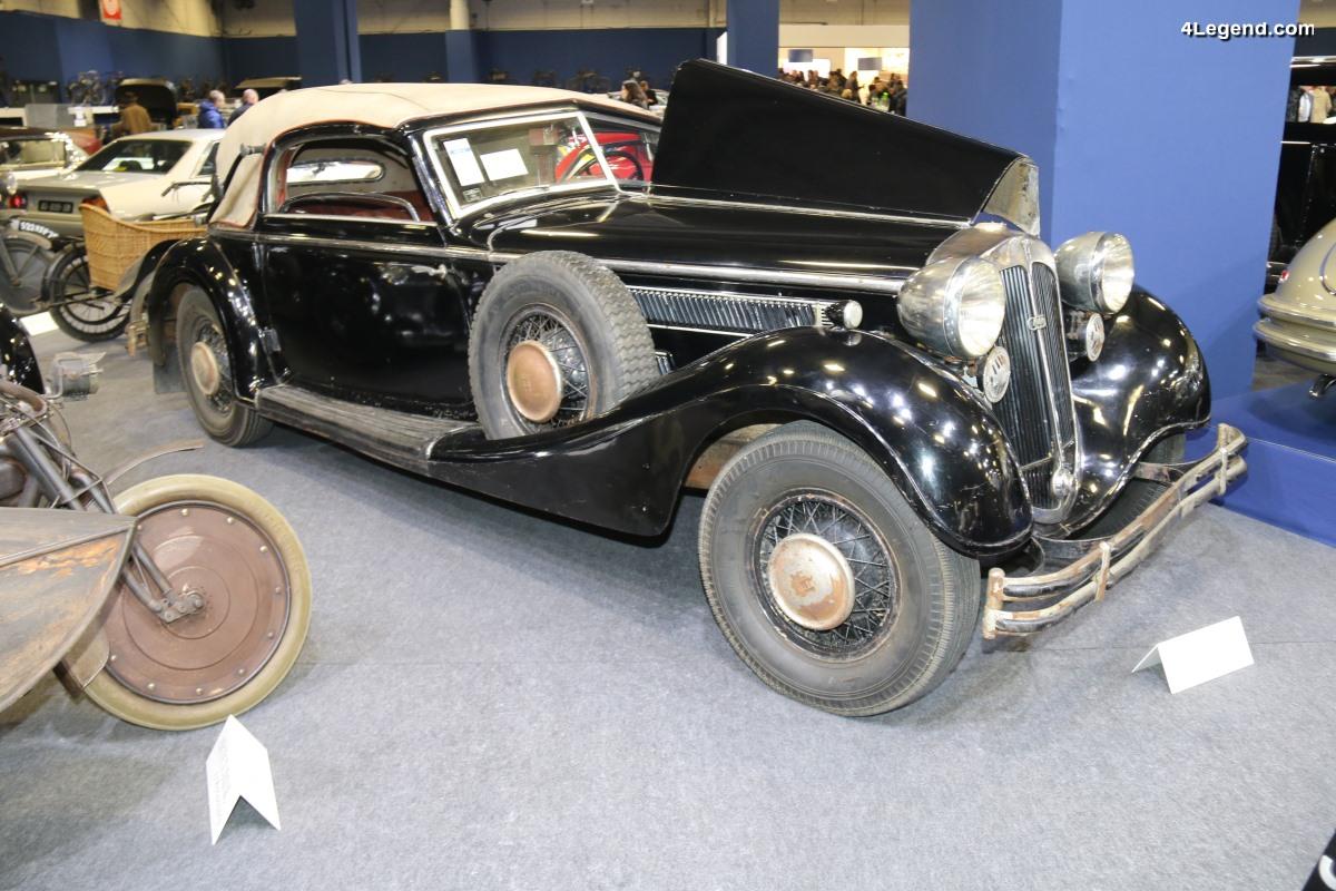 Rétromobile 2018 - Horch 853 Sport Cabriolet de 1937 d'origine et dans son jus