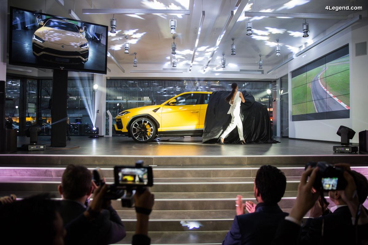 Lamborghini ouvre à Paris son 5ème showroom français et dévoile le nouvel Urus