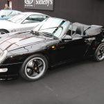 Porsche 911 Turbo Cabriolet Type 993 noire de 1995 – L'un des 14 exemplaires produits