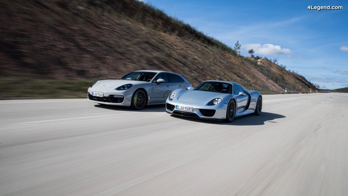 Porsche e-performance - Porsche 918 Spyder vs Porsche Panamera Turbo S E-Hybrid Sport Turismo à Portimão