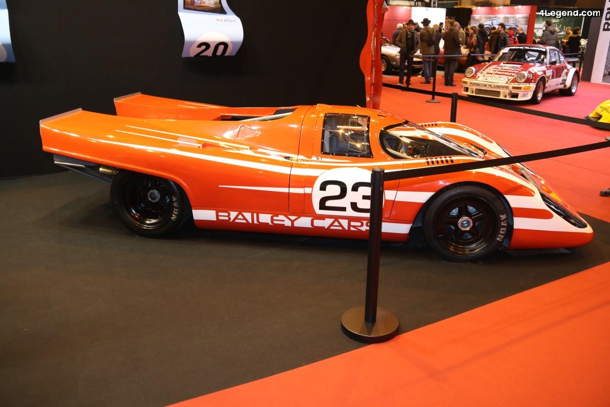 Rétromobile 2018 - 917 Bailey : une réplique d'une Porsche 917K