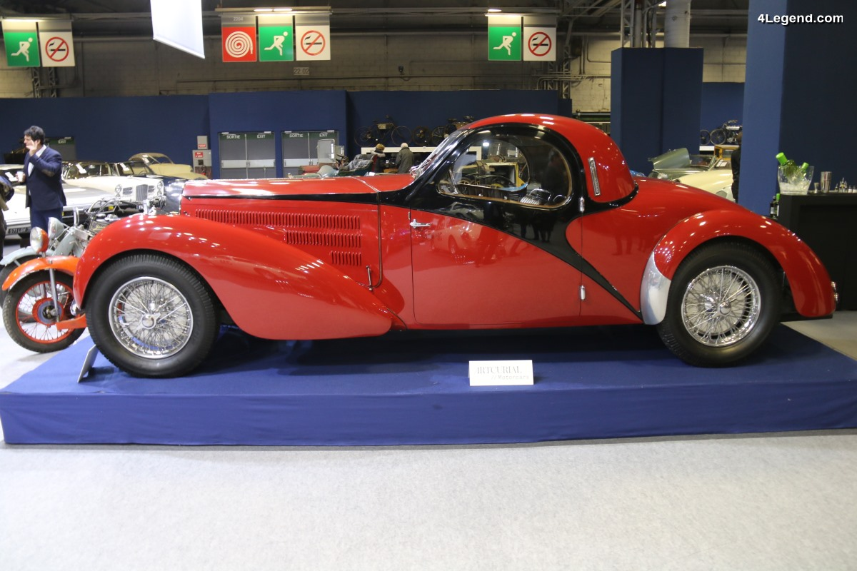 Rétromobile 2018 - Bugatti Type 57C Coupé Atalante de 1938 avec caisse en aluminium