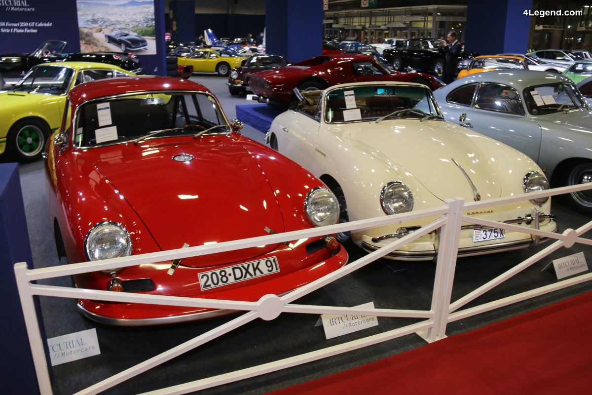 Rétromobile 2018 - Porsche 356 A 1600 GS Carrera de luxe cabriolet de 1959 - Collection Jean-Claude Miloé