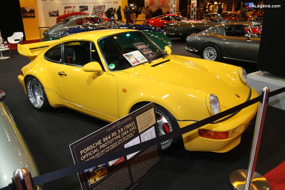 Rétromobile 2018 - Porsche 911 Carrera RS 3,8 Type 964 prototype de 1992