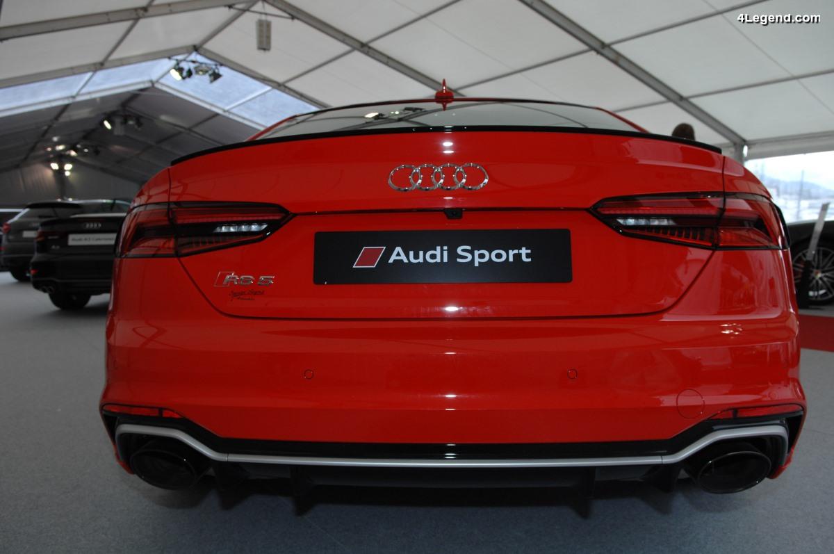 SIAM 2018 - Exposition de modèles Audi dont une superbe RS 5 Coupé