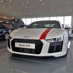 Audi R8 RWS en exposition au Terminal Audi d'Annecy