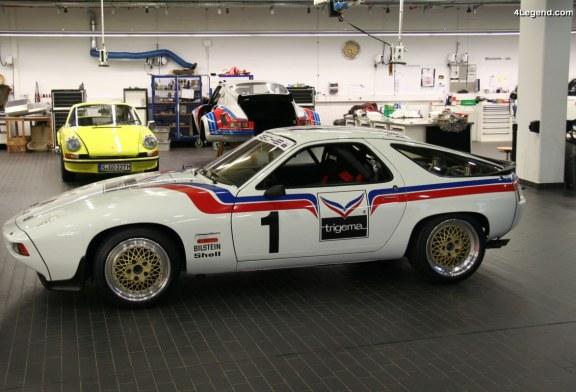 Histoire et restauration de la Porsche 928 S de course Trigema de 1982