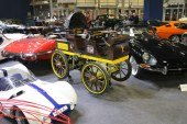 Rétromobile 2018 – Réplique de la Egger-Lohner Elektromobil C.2 Phaeton / P1 de 1898 de Ferdinand Porsche