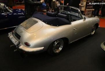 Rétromobile 2018 – Porsche 356 C Cabriolet de 1964 avec moteur, boîte et freins de Porsche 911