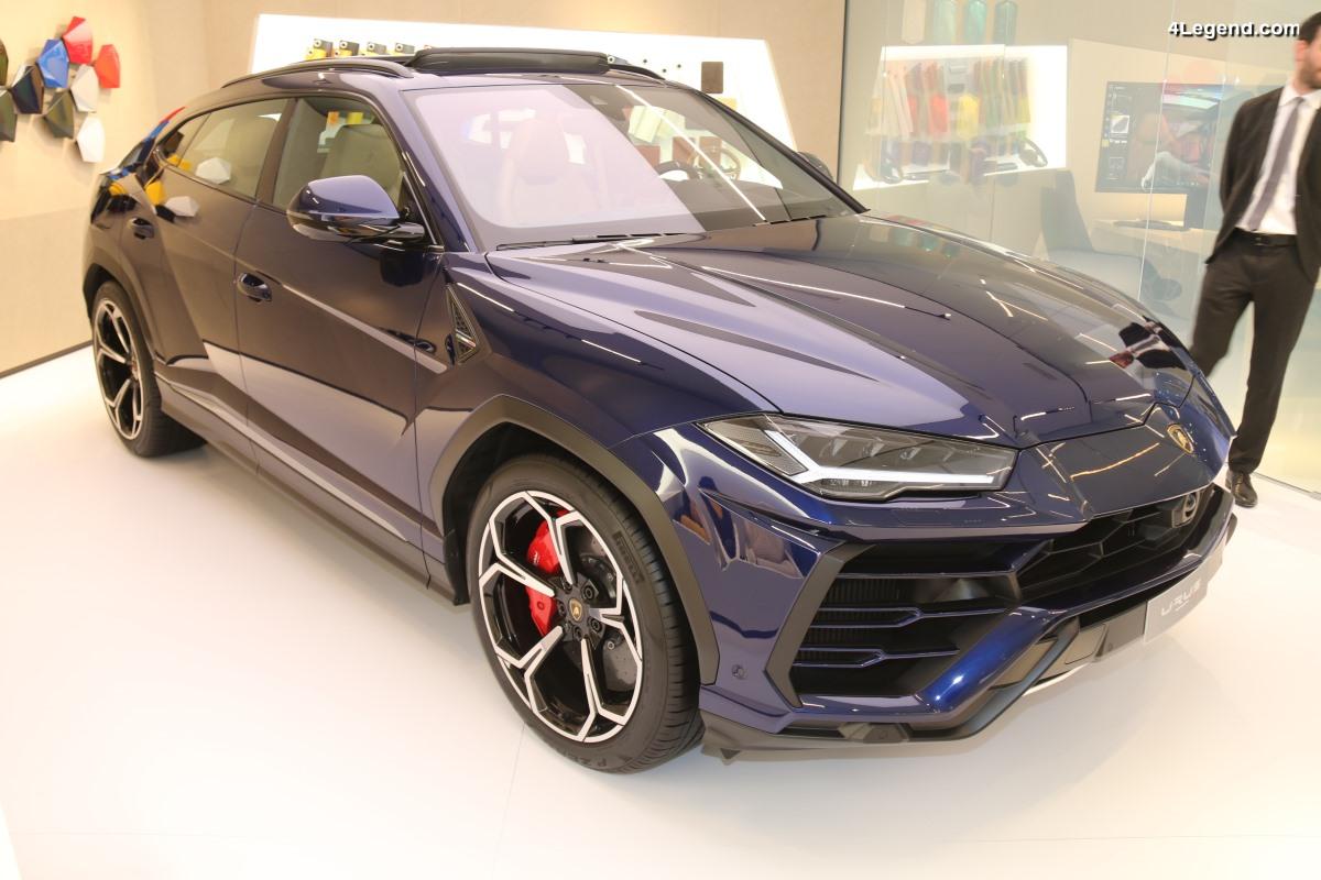 Lamborghini Urus personnalisé dans l'espace Ad Personam à Genève 2018