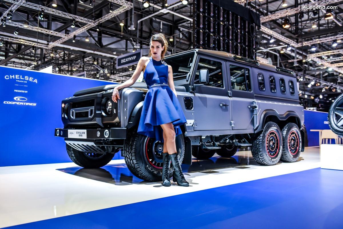 Nouveaux pneus Cooper Tires & Chelsea Truck Company Civilian 6x6 Defender au salon de Genève 2018