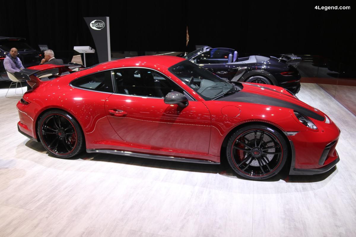 Pack sport carbone Techart pour la Porsche 911 GT3 à Genève 2018