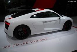 Audi R8 V10 RWS – Exposition de deux modèles au salon de Genève 2018