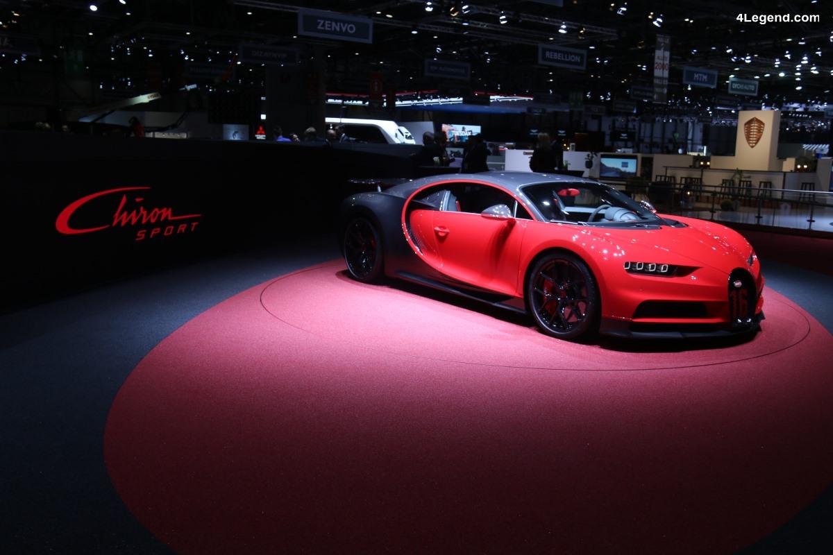 Bugatti Chiron Sport - 18 kg de moins et dévoilée au salon de Genève 2018