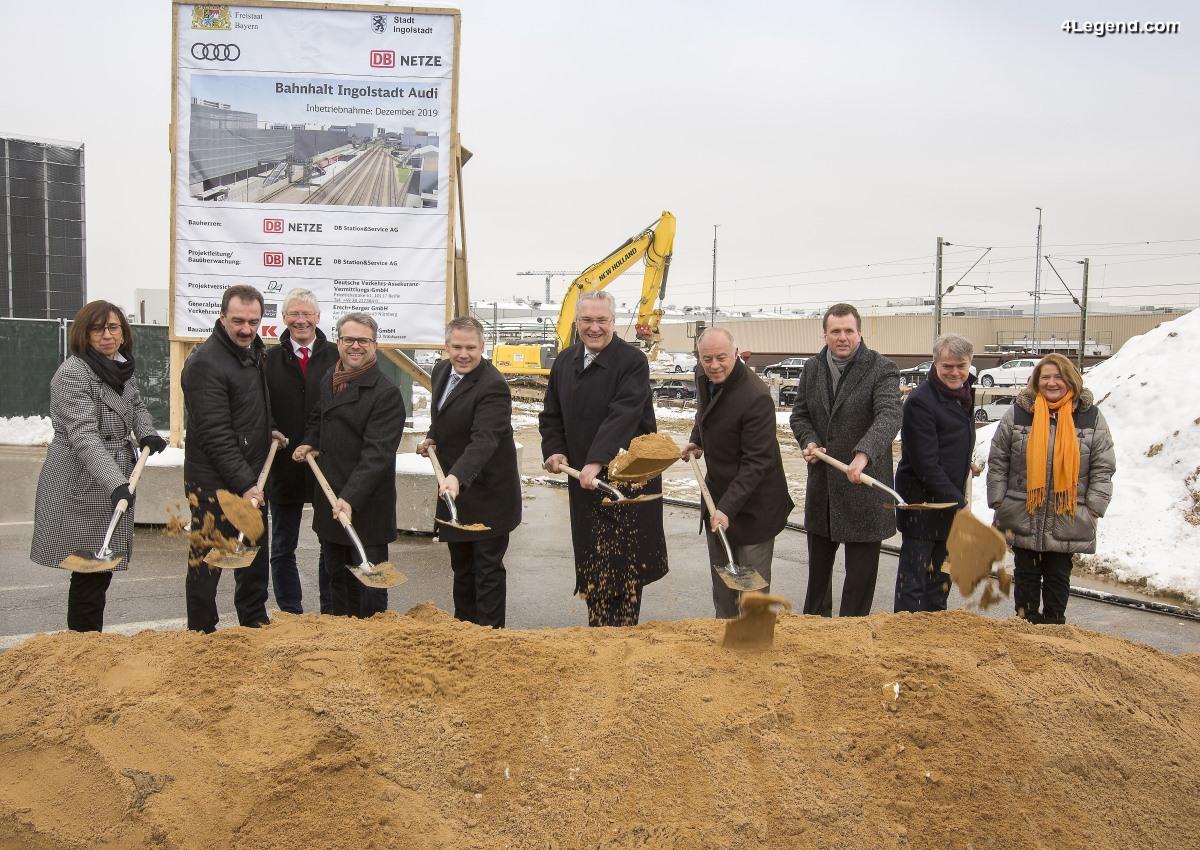 Cérémonie d'inauguration de la construction de la nouvelle gare