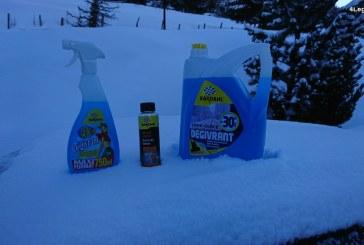 Essais de produits d'entretien automobiles pour affronter l'hiver et la neige