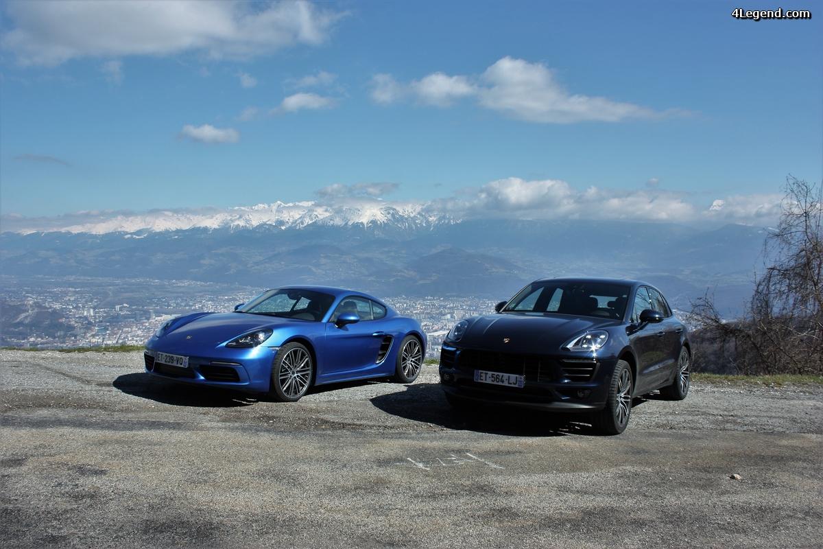 Essais Porsche 718 Cayman et Macan: la tournée des 2.0