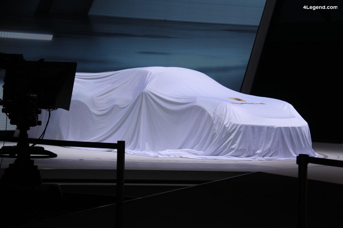 Genève 2018 - Preview Stand Porsche avec un concept car SUV électrique