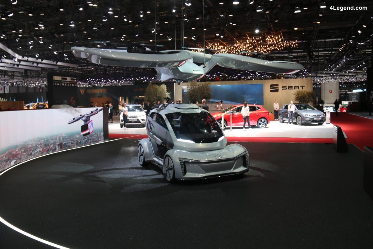 Italdesign Pop.Up Next - Un concept avancé d'un système modulaire pour la mobilité future, co-développé avec Airbus et Audi