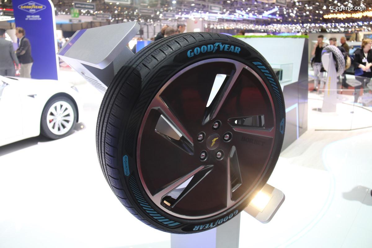 Pneu Goodyear EfficientGrip Performance - Une nouvelle technologie de pneumatique pour véhicules électriques présentée à Genève 2018