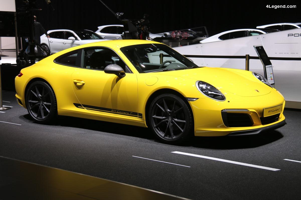 Porsche 911 Carrera T au salon de Genève 2018
