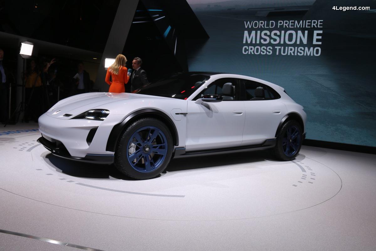 Porsche Mission E Cross Turismo - Premier CUV électrique Porsche dévoilé au salon de Genève 2018