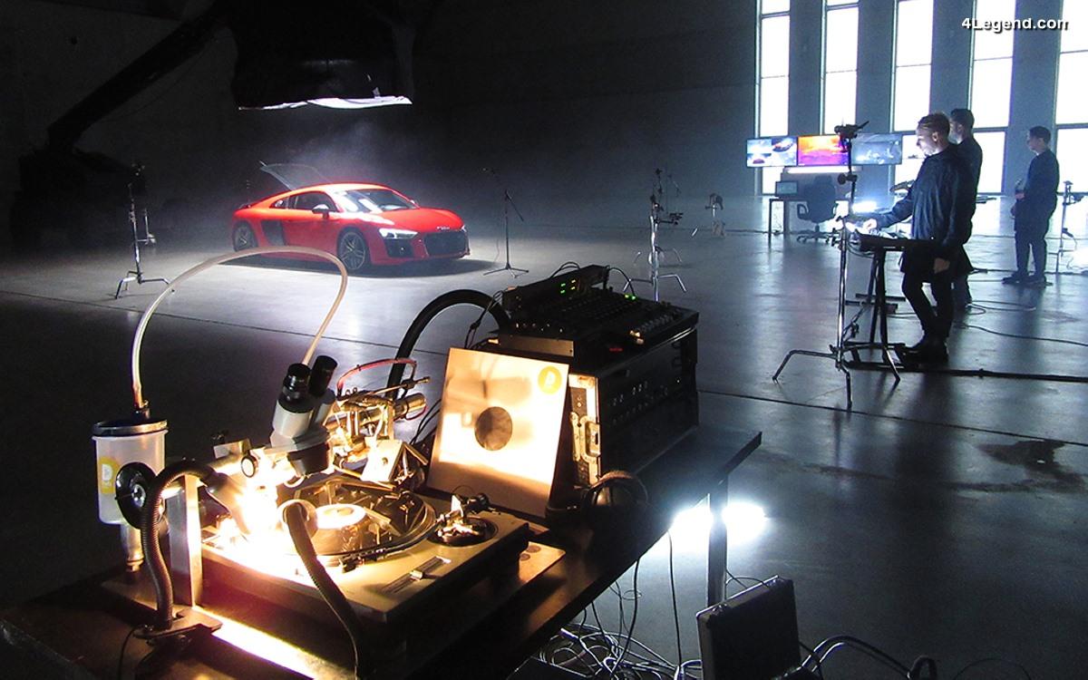 Le son du moteur de l'Audi R8 intégré dans la musique rock électro du groupe GOOSE