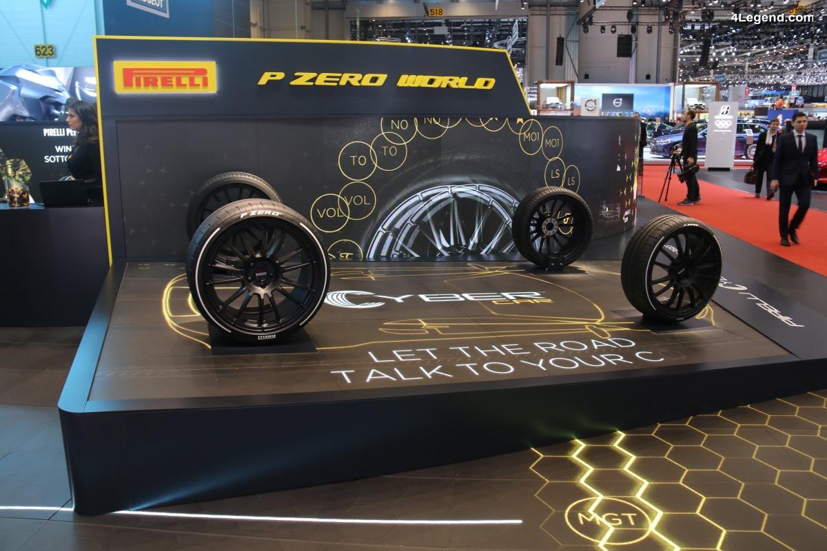 Pirelli Cyber Car - Un nouveau système dévoilé à Genève 2018 permettant une interaction entre le pneu et le véhicule grâce à un capteur