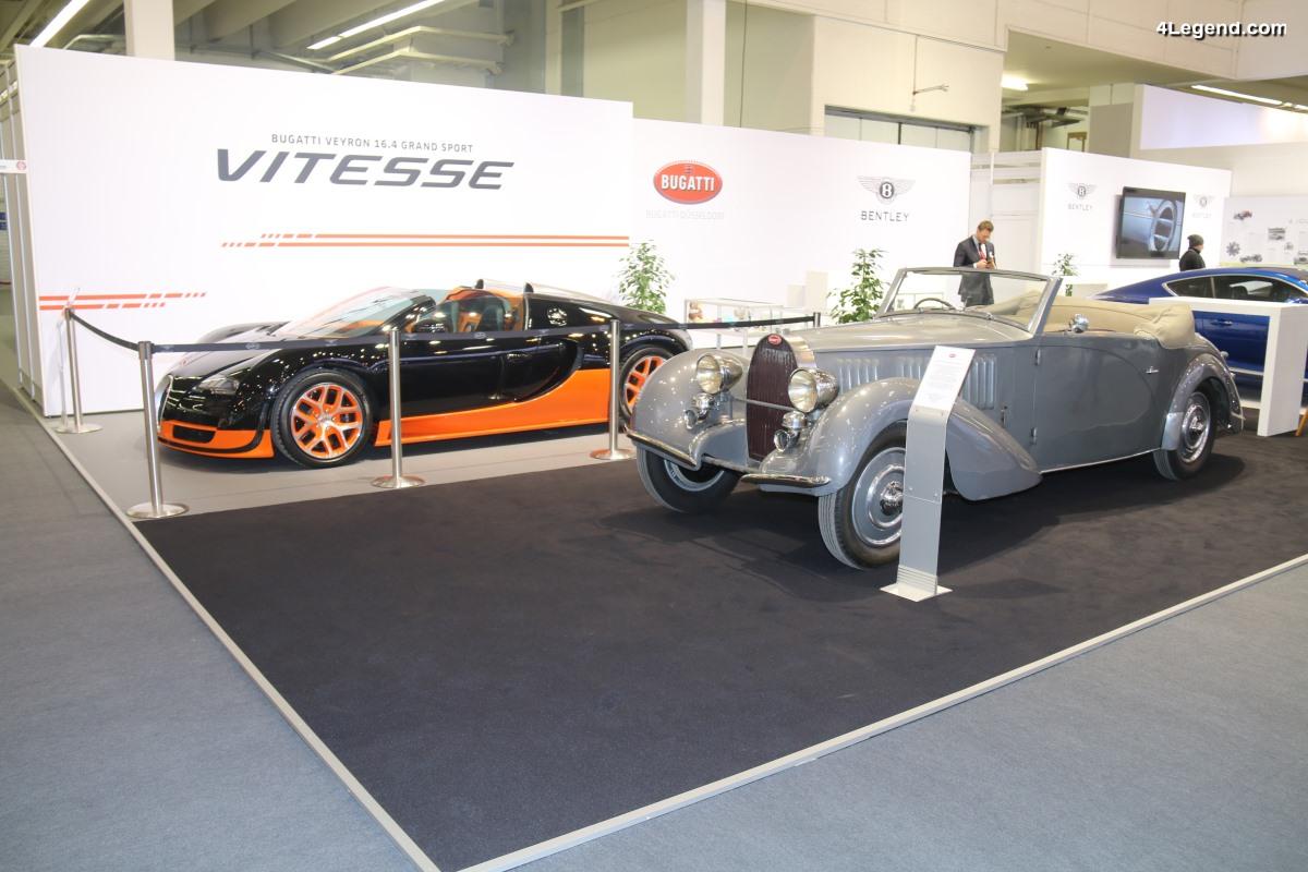 TCE 2018 - Stand Bugatti à Essen : Veyron 16.4 Grand Sport vitesse & Type 57 Graber Cabriolet