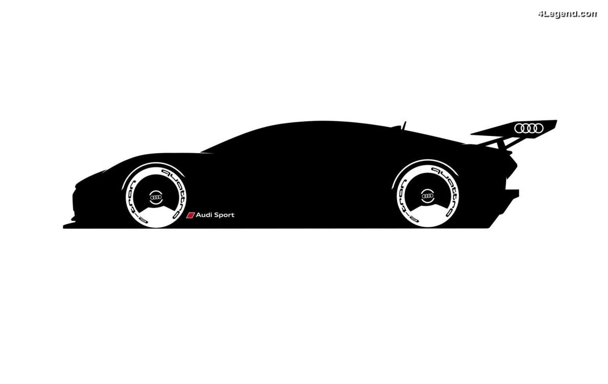 Audi Vision GT e-tron quattro - Une voiture de course virtuelle créée par Audi Sport pour le jeu Gran Turismo sur PS4