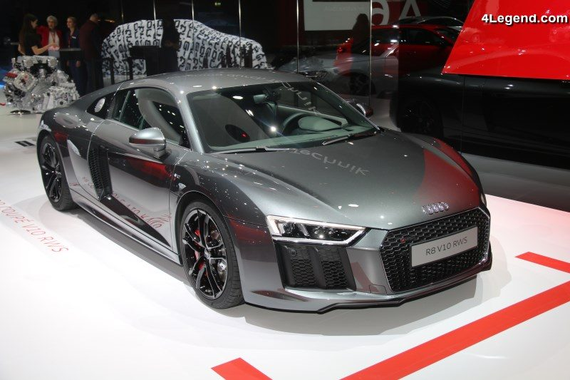 audi r8 v10 rws exposition de deux mod les au salon de gen ve 2018. Black Bedroom Furniture Sets. Home Design Ideas