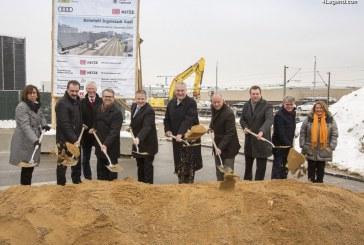 Cérémonie d'inauguration de la construction de la nouvelle gare «Ingolstadt Audi»